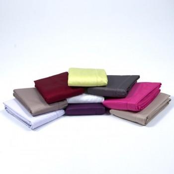 drap plat satin de coton en 240x300 ou 270x300 drap house. Black Bedroom Furniture Sets. Home Design Ideas
