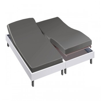 Drap housse pour lit articulé 2x80x200 en Percale - Linge de lit - Drap House