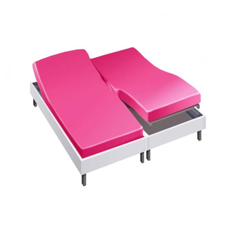 Drap housse pour lit articulé 2x90x200 en Percale