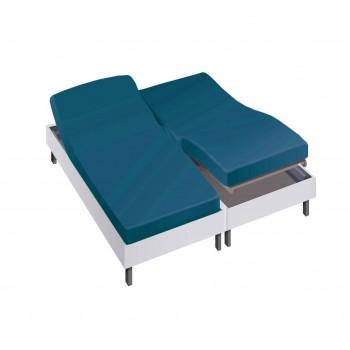 Drap housse pour lit articulé 2x80x200 en Percale